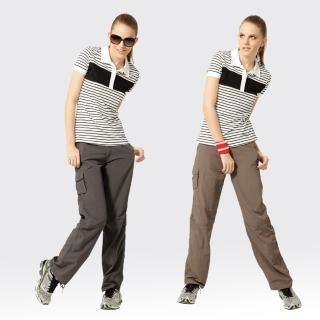 【SAMLIX 山力士】女透氣抗UV休閒長褲#W202