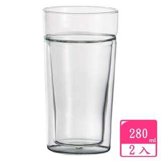 【SYG台玻】耐熱雙層玻璃杯(280cc二入組)