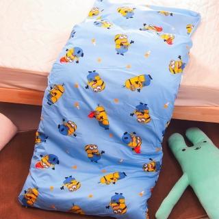 【小小兵】台灣精製兒童睡袋(藍)