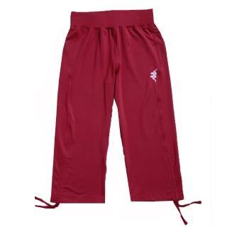 【KAPPA】舒適時尚女吸濕排汗彈力棉韻律七分褲(桃紅)