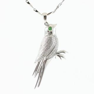 【Hanami】時尚造型喜鵲925純銀項鍊