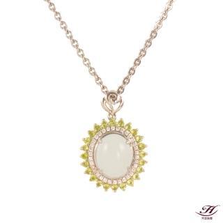 【禾美珠寶】知性優雅天然和田羊脂白玉項鍊(MA041)