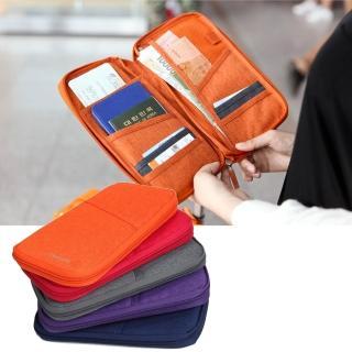 【DF Queenin皮夾】韓版輕旅時尚系尼龍隨身護照夾(共4色)