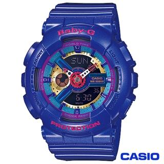 【CASIO卡西歐】BABY-G少女時代立體多層次搶眼運動雙顯錶(BA-112-2A)