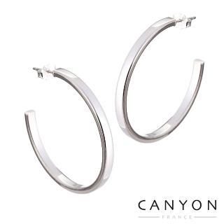【CANYON】立體方C字耳環