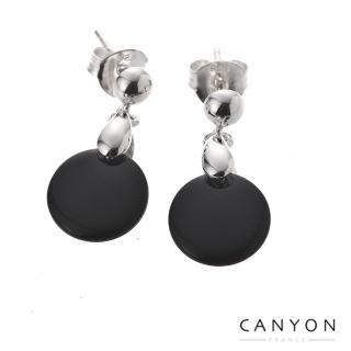 【CANYON】完美黑瑪瑙耳環