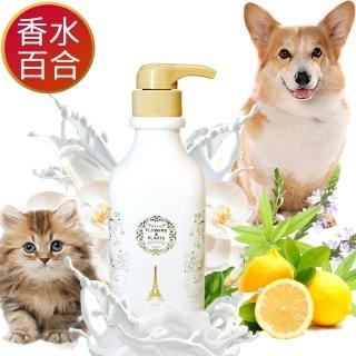 【愛戀花草】百合花精油 ★ 護膚除臭寵物潤絲精(500MLx6瓶)
