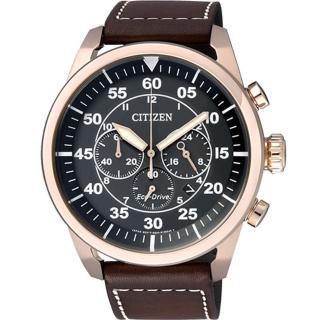 【CITIZEN 星辰】霸氣光動能計時腕錶(CA4213-00E)