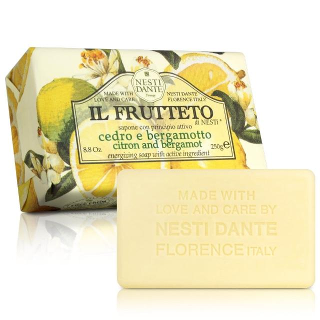 【Nesti Dante  義大利手工皂】天然鮮果系列(檸檬和佛手柑 活力-250g)