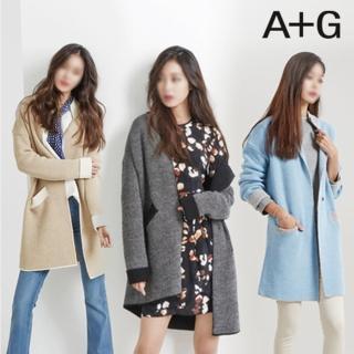 韓國A+G設計師品牌羊毛針織外套(義大利製)(M)