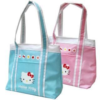 【買一送一】Hello Kitty 凱蒂貓防水萬用手提餐袋(粉/藍綠_KT-3902)