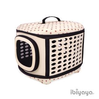 【IBIYAYA依比呀呀】EVA輕巧摺疊寵物提籠-米點點(FC1006)