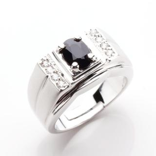【寶石方塊】典藏名爵天然一克拉藍寶石戒指
