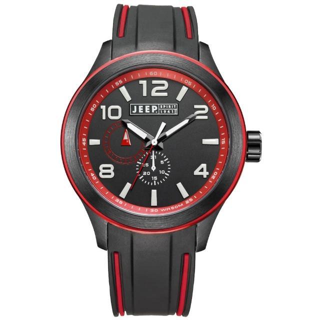 【Jeep Spirit】色彩派對休閒運動腕錶-紅(JPS80103)
