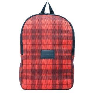 【MARC BY MARC JACOBS】格紋厚織尼龍拉鍊後背包(紅M0001515-RED-MULTI)