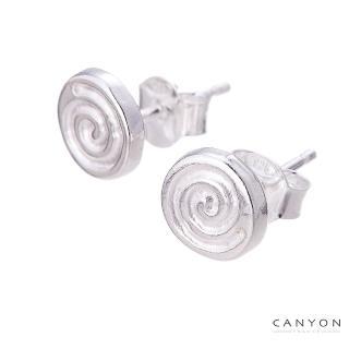 【CANYON】銀棒棒糖貼式耳環