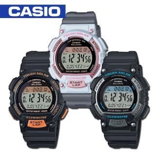 【CASIO 卡西歐】太陽能_LED照明_120組計時_運動錶(STL-S300H)