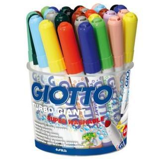 【義大利 GIOTTO】超好洗粗細雙效彩色筆 - 12色36支(424900)