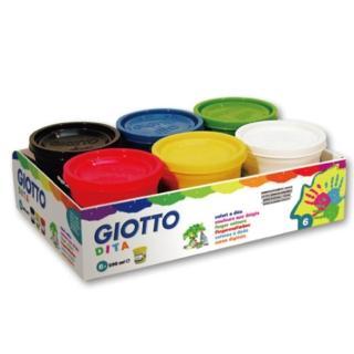 【義大利 GIOTTO】幼兒安全手指膏 - 6色 200ml(535000)