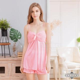 【Annabery】粉嫩緞帶上衣短褲組
