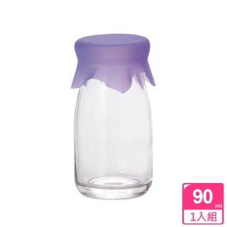 【ADERIA】日本進口玻璃牛奶瓶90ml(紫)