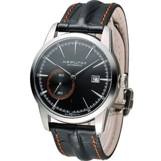 【漢米爾頓 HAMILTON】鐵路系列偏心小秒盤機械睕錶(H40515731 黑皮)   HAMILTON 漢米爾頓