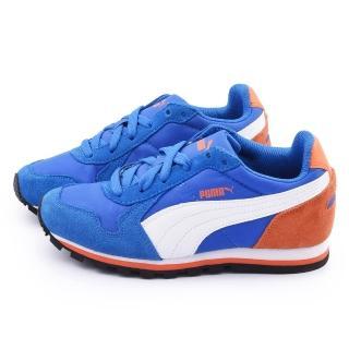 【PUMA】大童 輕量緩衝運動鞋(358770-01-藍)