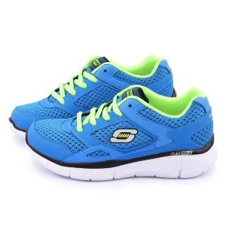 【SKECHERS】大童 輕量記憶型運動鞋(95515LBLLM-藍)