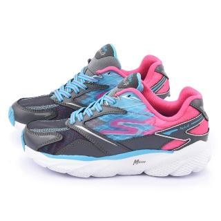 【SKECHERS】大童 輕量彈性運動鞋(80638LCCBL-灰)