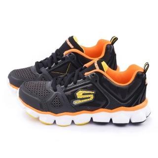 【SKECHERS】大童 輕量避震運動鞋(95295LBKCC-黑橘)