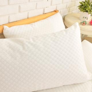 【dreamer STYLE】防水抗菌緹花透氣枕頭保潔墊(一組2入)