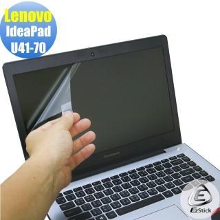 【EZstick】Lenovo U41-70 專用 靜電式筆電LCD液晶螢幕貼(可選鏡面或霧面)