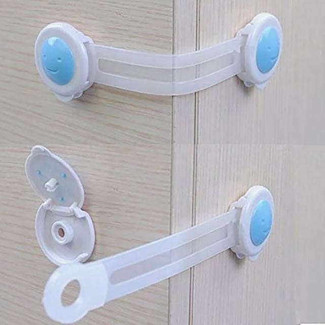 自黏式安全防護鎖-多功能安全鎖-兒童安全鎖扣-家居安全防護鎖(2入)