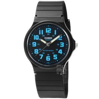 【CASIO】日系卡西歐薄型大數字石英錶-黑(MQ-71-2B)