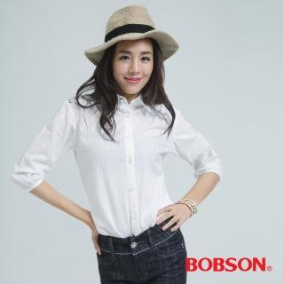 【BOBSON】刺繡襯衫(白色25139-81)