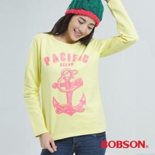 【BOBSON】印圖上衣(黃色33128-30)