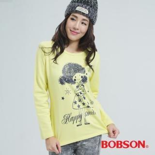 【BOBSON】印圖上衣(黃色33129-30)