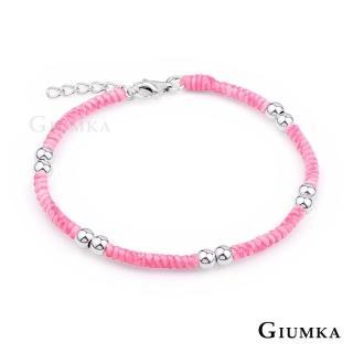 【GIUMKA】925純銀  五路財神手鍊 蠶絲蠟繩 單個價格 MHS5016-F(粉色)