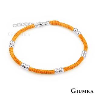 【GIUMKA】925純銀  五路財神手鍊 蠶絲蠟繩 單個價格 MHS5016-D(橘黃)