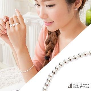 【維克維娜】幸運手鍊 圓珠亮面純銀手鍊