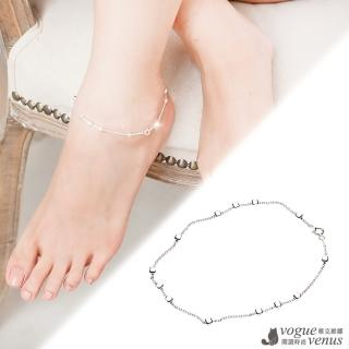 【維克維娜】清麗閃亮。獨特簡易率性腳鍊 925純銀腳鍊