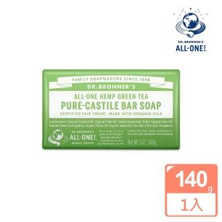 【Dr.Bronner's 美國布朗博士】綠茶潔顏皂(140g)