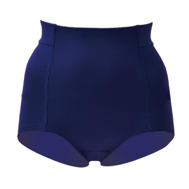 【思薇爾】舒曼曲現系列64-82素面高腰平口束褲(經典藍)