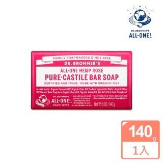 【Dr.Bronner's 美國布朗博士】玫瑰潔顏皂(140g)