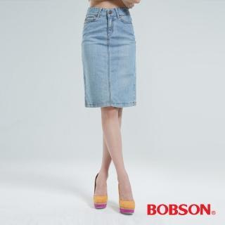 【BOBSON】伸縮短裙(淺藍D067-58)