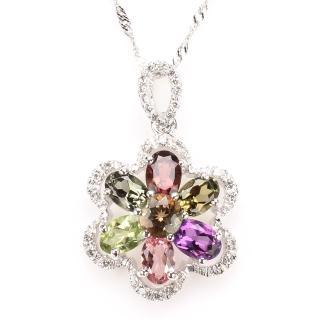 【寶石方塊】芳馨滿體天然水晶項鍊