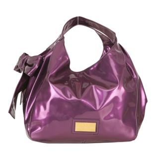 【VALENTINO】NUAGE BAG漆皮蝴蝶結包(中-紫XAB963N-purple)