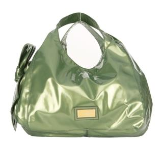 【VALENTINO】NUAGE BAG漆皮蝴蝶結包(大-綠XAB873N-green)