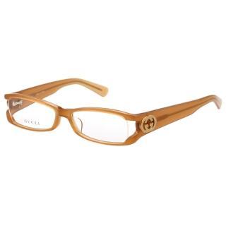 【GUCCI】-時尚光學眼鏡(粉杏色)