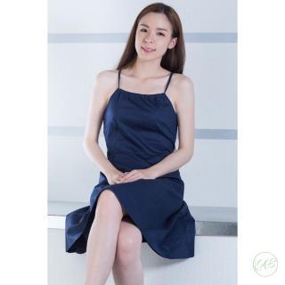 【EAS】細肩深藍洋裝(洋裝 小禮服)